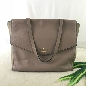 Kate Spade Leather Taupe Large Tote